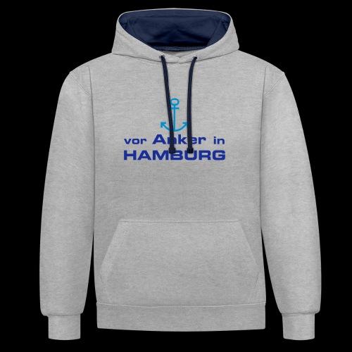 Kapuzenjacke:Vor Anker in Hamburg - Kontrast-Hoodie