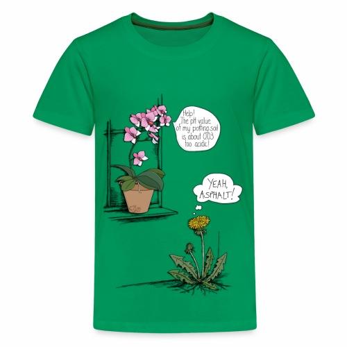 Orchidee vs. Löwenzahn Kinder-T-Shirt - Teenager Premium T-Shirt