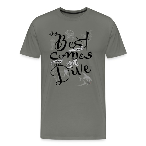 The best view comes with the dive-2017 - Männer Premium T-Shirt