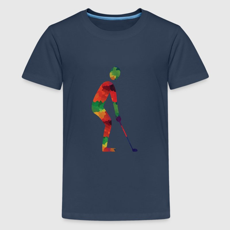 Gekleurde golf shirts - Teenager Premium T-shirt