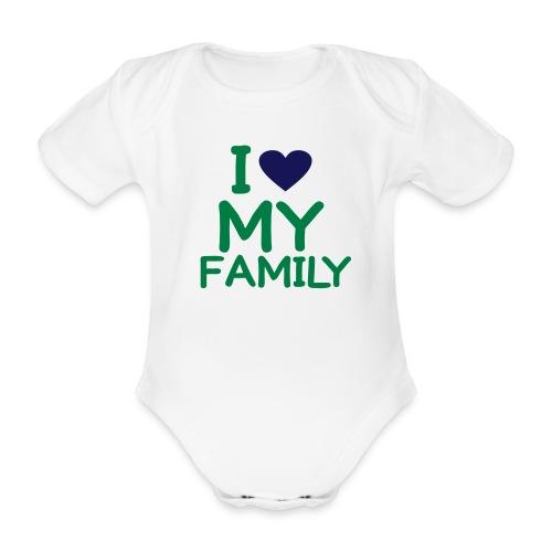 Body garçon 'I love my family' - Body bébé bio manches courtes
