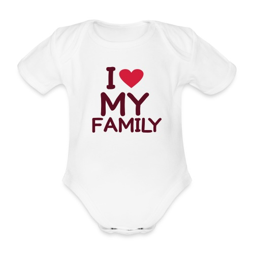 Body fille 'I love my family' - Body bébé bio manches courtes