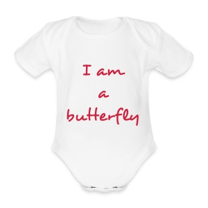 Body fille 'I am a butterfly' - Body bébé bio manches courtes
