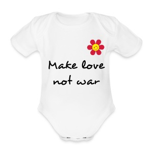 Body fille 'Make love not war' - Body bébé bio manches courtes