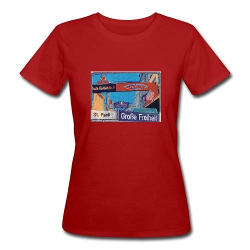 Männer T-Shirt: Grosse Freiheit | Hamburg-St. Pauli | Künstler-Edition - Frauen Bio-T-Shirt