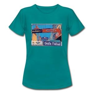 Damen T-Shirt: Grosse Freiheit   Hamburg-St. Pauli   Künstler-Edition - Frauen T-Shirt
