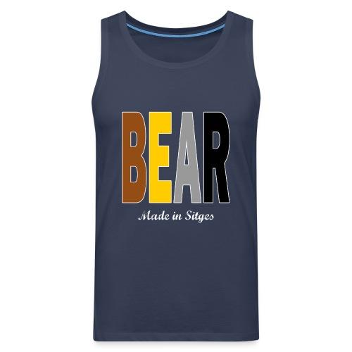 B E A R - Camiseta sin mangas color navy - Tallas S a 5XL - Tank top premium hombre