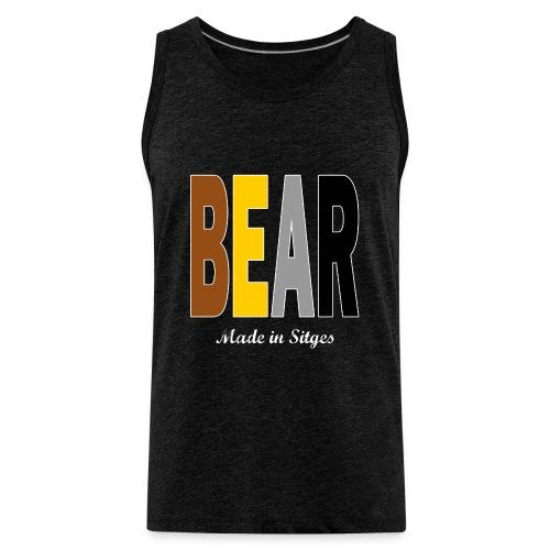 B E A R - Camiseta sin mangas color gris charcol - Tallas S a 5XL - Tank top premium hombre
