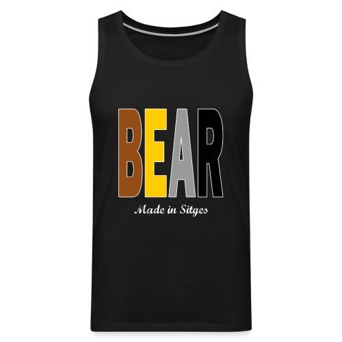 B E A R - Camiseta sin mangas color gris negro - Tallas S a 5XL - Tank top premium hombre