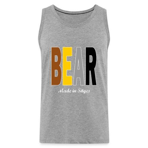 B E A R - Camiseta sin mangas color gris - Tallas S a 5XL - Tank top premium hombre