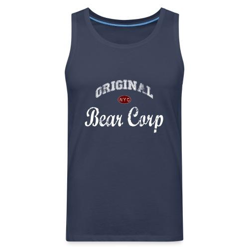 Original BearCorp - Camiseta sin mangas color navy - Tallas S a 5XL - Tank top premium hombre
