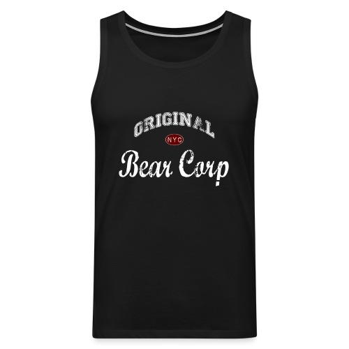 Original BearCorp - Camiseta sin mangas color negro - Tallas S a 5XL - Tank top premium hombre