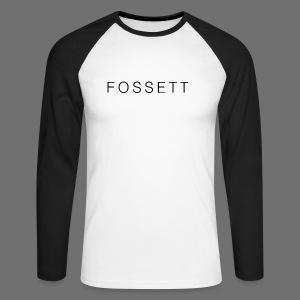 Fossett Gaming Mens Baseball Long Sleeved Top - Men's Long Sleeve Baseball T-Shirt