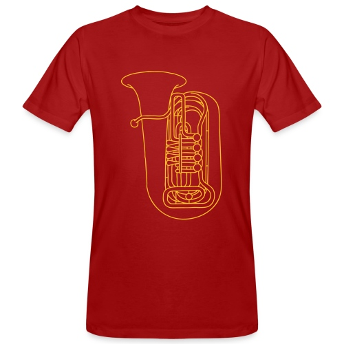 Tuba Blechblasinstrument - Männer Bio-T-Shirt
