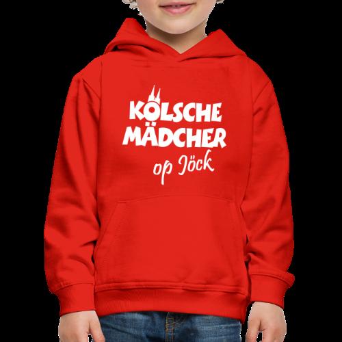 Kölsche Mädcher op Jöck Kinder Hoodie - Kinder Premium Hoodie