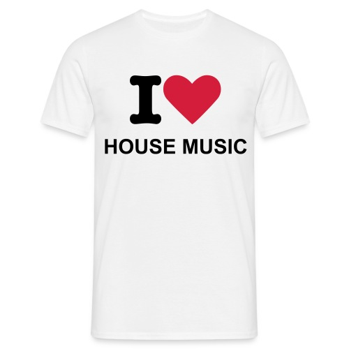 I Love House Music - Mannen T-shirt