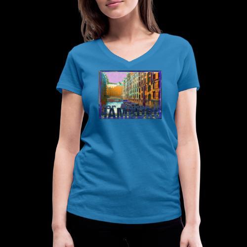 Vor Anker in Hamburg: Speicherstadt - Frauen Bio-T-Shirt mit V-Ausschnitt von Stanley & Stella