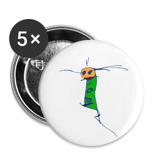 ein L auf großem Button - Buttons groß 56 mm (5er Pack)