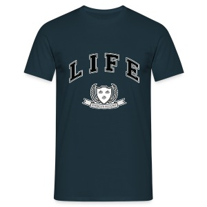 Life University - Shit Happens - Athletics Logo - Men's T-Shirt