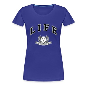 Life University - Shit Happens - Athletics Logo - Women's Premium T-Shirt