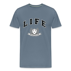 Life University - Shit Happens - Athletics Logo - Men's Premium T-Shirt