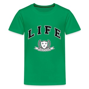 Life University - Shit Happens - Athletics Logo - Teenage Premium T-Shirt