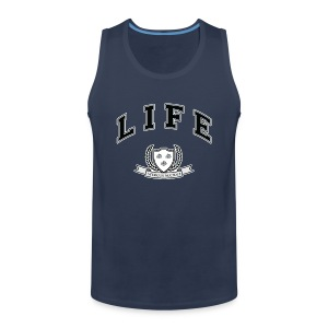 Life University - Shit Happens - Athletics Logo - Men's Premium Tank Top