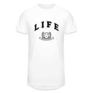 Life University - Shit Happens - Athletics Logo - Men's Long Body Urban Tee