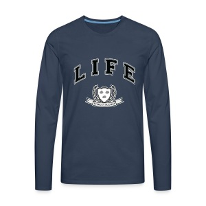 Life University - Shit Happens - Athletics Logo - Men's Premium Longsleeve Shirt