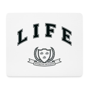 Life University - Shit Happens - Athletics Logo - Mouse Pad (horizontal)