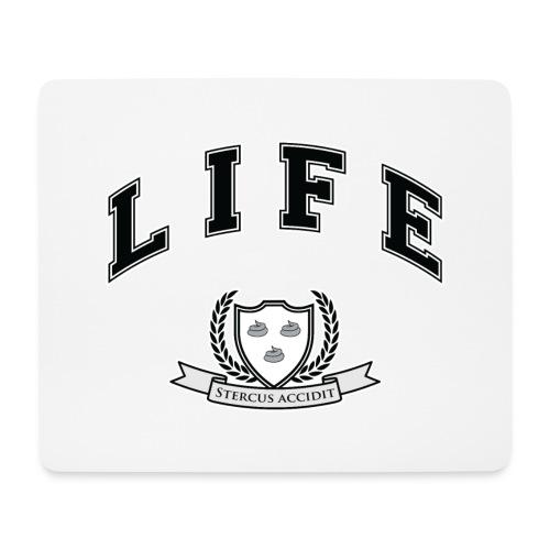 Life University - Shit Happens - Athletics Logo - Mouse Pad (horizontal)