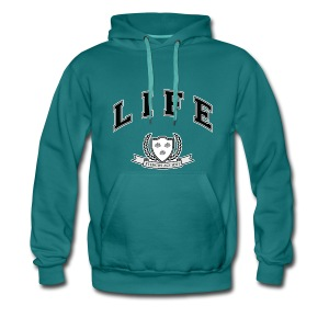 Life University - Shit Happens - Athletics Logo - Men's Premium Hoodie
