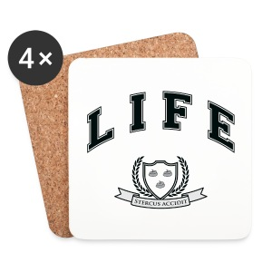 Life University - Shit Happens - Athletics Logo - Coasters (set of 4)