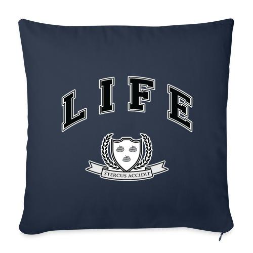 Life University - Shit Happens - Athletics Logo - Sofa pillow cover 44 x 44 cm