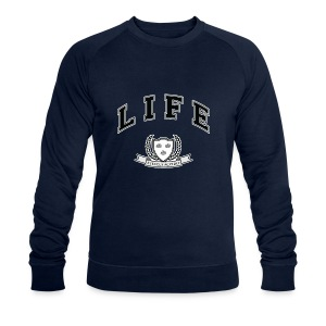 Life University - Shit Happens - Athletics Logo - Men's Organic Sweatshirt by Stanley & Stella