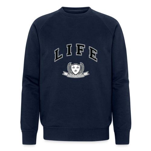 Life University - Shit Happens - Athletics Logo - Men's Organic Sweatshirt by Stanley & Stella