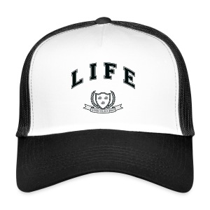 Life University - Shit Happens - Athletics Logo - Trucker Cap