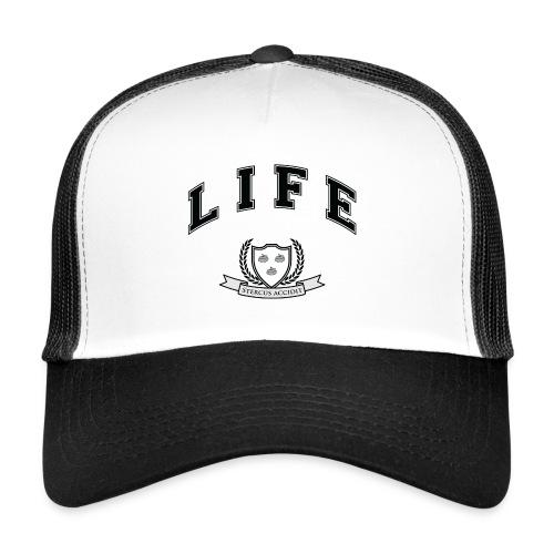 Life University - Shit Happens - Athletics Logo - Trucker Cap