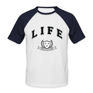 Life University - Shit Happens - Athletics Logo - Men's Baseball T-Shirt