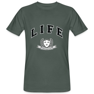 Life University - Shit Happens - Athletics Logo - Men's Organic T-shirt