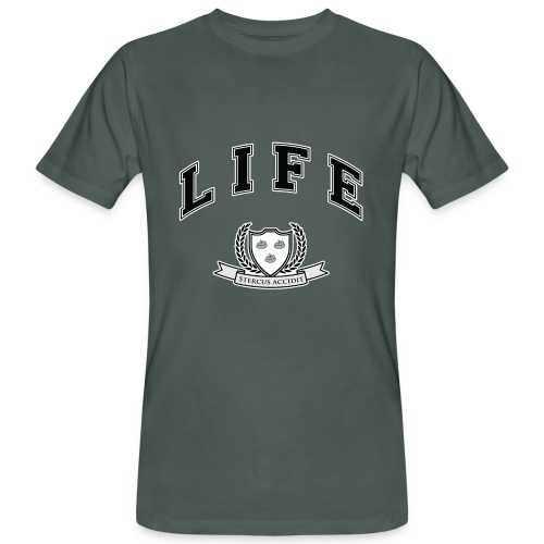 Life University - Shit Happens - Athletics Logo - Men's Organic T-shirt