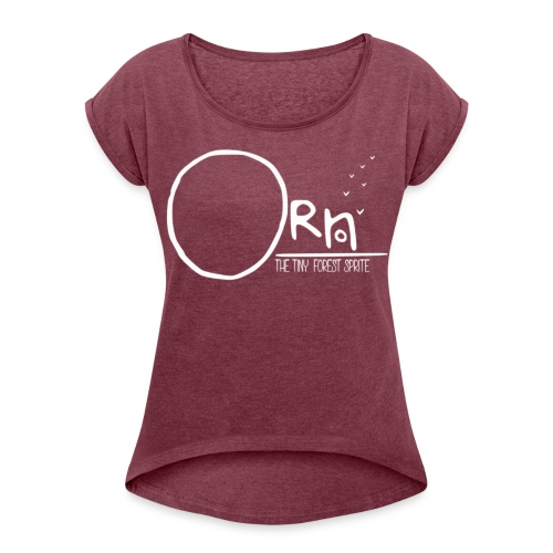ORN LOGO WOMENS TEE - Women's T-shirt with rolled up sleeves