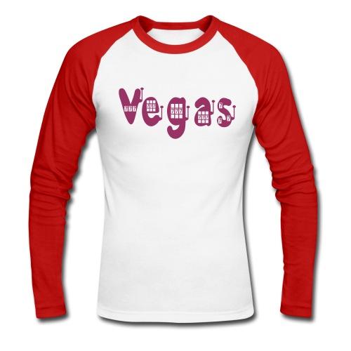 VEGAS SLOT TATTOO - Men's Long Sleeve Baseball T-Shirt