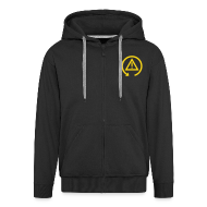Hoodies & Sweatshirts ~ Men's Premium Hooded Jacket ~ Zipper Hoodie with DSC logo on front and back incl text on back