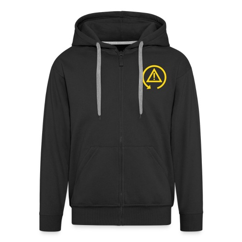 Zipper Hoodie with DSC logo on front and back incl text on back - Men's Premium Hooded Jacket