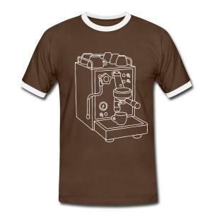 Espressomaschine Barista - Männer Kontrast-T-Shirt