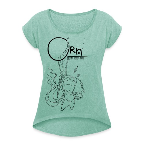 ORN BRAVE HERO WOMENS TEE - Women's T-shirt with rolled up sleeves