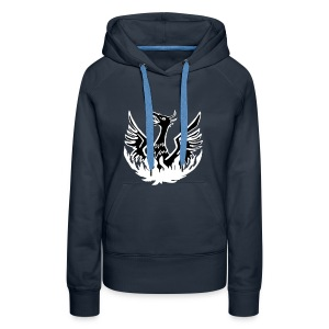 emergency hoody - girls' navy WITH NAME - Women's Premium Hoodie
