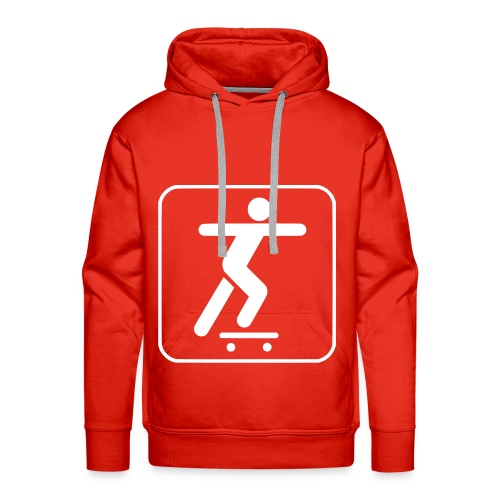 Mannensweater met capuchon Red: Skateboard - Mannen Premium hoodie