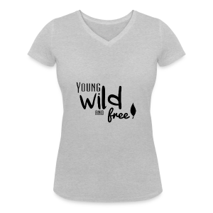 Young, wild and free - T-shirt bio col en V Stanley & Stella Femme